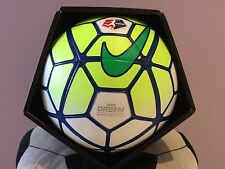 SOCCER-NIKE ORDEM-OFFICIAL MATCH BALL-SIZE 5-GREEN / WHITE IN COLOR-NEW-IN BOX-
