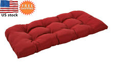 Bossima Outdoor/Indoor Cushion Patio Porch Wicker Swing Loveseat Pad Rust Red