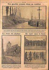 Poilus Gourbis Bataille d'Artois/Bienvillers-au-Bois/Chiens Sanitaires WWI 1915