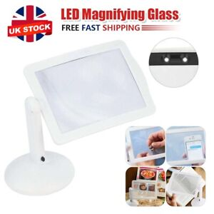Rotate LED Magnifying Glass Stand With Light Lamp Hands Magnifier Foldable Clamp
