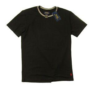 Polo Ralph Lauren Men's Black Tipped Crew-Neck Short Sleeve Lounge T-Shirt