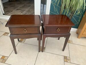Two STAG Minstrel Mahogany Vintage Bedside Tables - CS K24