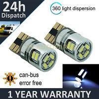 2X W5W T10 501 CANBUS ERROR FREE WHITE 10 SMD LED INTERIOR LIGHT BULBS IL102901
