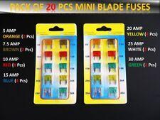 20PCS conjunto de fusibles de coche vehículo Ford Pequeño Hoja * 5 7.5 10 15 20 25 30 Amp *