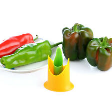 2Pcs Multifunction Plastic Bell Pepper Chilli Seed Remover Kitchen Supply Tools