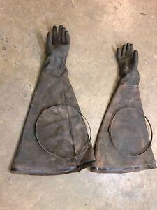 Sandblast cabinet gloves, large