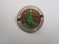 vintage 1955 Pasadena California Motorcycle Club Greenhorn Enduro Race Award Pin