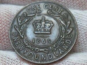 1865 Newfoundland Canada Copper Cent Victoria