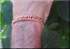 Solid Copper 3/8 of an inch wide Men's 10 Inch Link Bracelet CB632G.