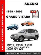 SUZUKI GRAND VITARA 1999 - 2005 ULTIMATE OEM WORKSHOP REPAIR SERVICE FSM MANUAL