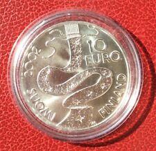 Finlande - Magnifique  10 €  Argent 2002 - Elias Lonnrot