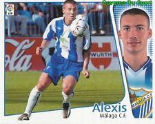 ALEXIS ESPANA MALAGA.CF CROMO STICKER LIGA ESTE 2005 PANINI