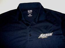 Akron Zips Band Polo Shirt adidas ClimaLite Adult Small Polyester