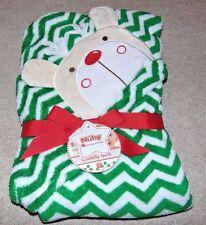 ~NWT NUBY Chevron Print Reindeer/Christmas Cuddly Soft Blanket Cute:)!!