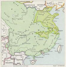 C2961 Le due Cine nel 1942 - Mappa d'epoca - 1943 vintage map