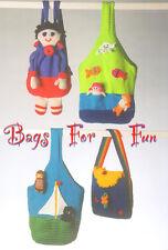Mermaid poisson hibou chat bateau doll Rainbow Coccinelle sac à dos / sac DK Motif Tricot