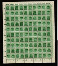 S0031 Germany - Deutsches Reich 1923 complete sheet 100Tausend on 400M inflation