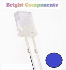 10 x Rectangle Blue LED 2x3x4mm - 1st CLASS POST - UK