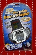 Deluxe Portable Game Player w Calculator Alarm Clock Battery 10 GAMES Vintage