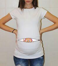 Baby Girl Peek a Boo Maternity Shirt Pregnancy Reveal Announcement Halloween