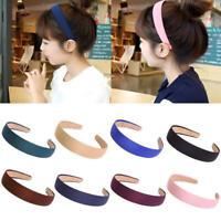 Lady Girls Wide Plastic Headband Hair Band Accessory Satin Headwear Decor New F#