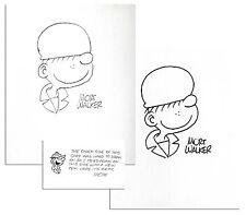 Mort Walker Signed ''Beetle Bailey'' Drawings