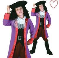 Boys Kids Book Week Day Pirate Costume Jack Captain Hook Caribbean Fancy Dress