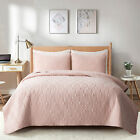 Embossed+Reversible+Bedspread+Coverlet+Quilt+Set+Bedding+Cover+Twin+SIZE