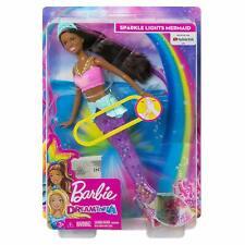 Mattel Barbie Dreamtopia Sparkle Lights Mermaid - African American