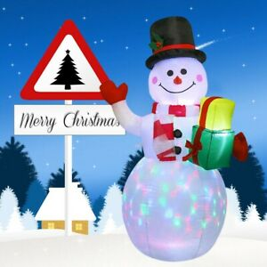 1.5M LED Light UP Christmas Inflatable Santa Claus Snowman Blow Up Outdoor Decor