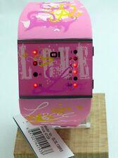 The One Uhr Binary LED Uhr SLSL138R3 Pink