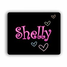Personalized Text Name Hearts Computer Mouse Pad