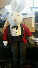 Mr Playboy Plush Hugh Hefner Playboy Bunny Doll With Pipe and Champagne Glass