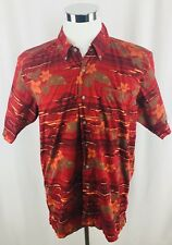 Wrangler 1947 Authentic Western Wear Mens Large Maroon Floral Button Front Shirt