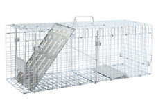 Live Animal Cage Trap Large 1 Door Professional Groundhog Raccoon Spring