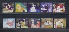 Japan 2014 Disney Animated Classics 52Y Complete Used Set of 10 Sc# 3684 a-j