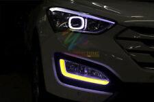 LED Daytime Running Lights DRL Accessories Fog lights Fit For Hyundai Santa Fe