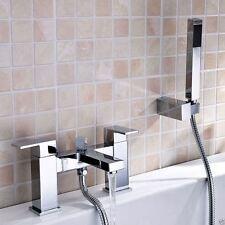 LIMA Quadrata Ottone Massiccio Cromo Bacino Mono + Bagno Doccia Miscelatore rubinetto Set