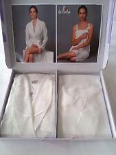 Parure 2 pezzi vestaglia e camicia da notte Birba.Art.1001 Col.Panna. A289