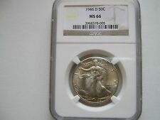 1946-D , Walking Liberty Half Dollar , NGC , MS 66
