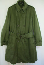Dtd 1950 52 Korean War Army Overcoat Military Trench Coat Mens  Wool Lined 21676