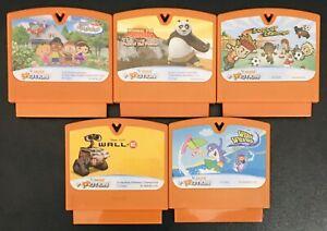 VTech VSmile V Motion 5 Game Lot, Wall-E, Kung Fu Panda, Wild Waves, Einstein