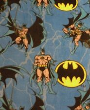 Batman - New Handmade Fleece Blanket with a Crocheted Border