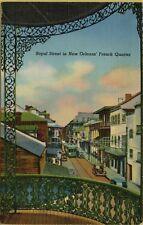 Royal Street View Cars Trolley French Quarter New Orleans LA Postcard B11