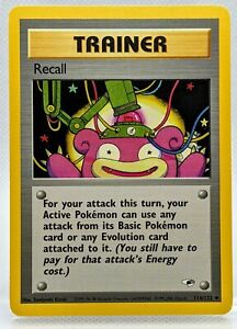 RECALL Trainer  116/132 Gym Heroes Pokemon Card ⭐ Never Played NM/Mint Slowpoke