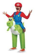 Mario Riding Yoshi Boys Child Inflatable Super Mario Video Game Costume