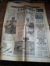 L'Aurore 16 juin 1965 De Gaulle Ursula Andress Deferre