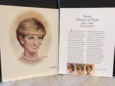 Portrait Diana Princess of Wales Fleetwood Signed Tom McNeely Stamp Set