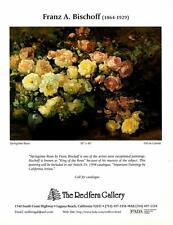 Franz A. Bischoff: Springtime Roses-Painting- Exhibition Magazine Ad Art Print