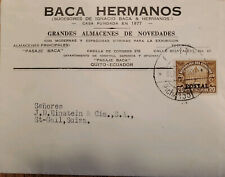 L) 1928 ECUADOR, POST HOUSE, 5C, BROWN, CIRCULATED COVER FROM ECUADOR TO SWITZER